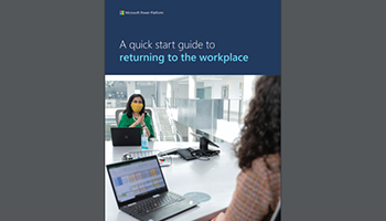 Cover of quick start guide � two woman sitting at a table with masks