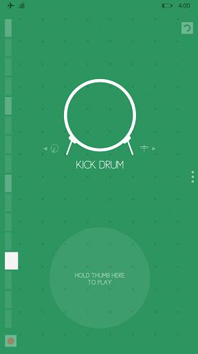 Screenshot of Kick Drum option