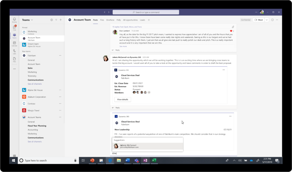View and edit Dynamics 365 records right within your Teams workflow