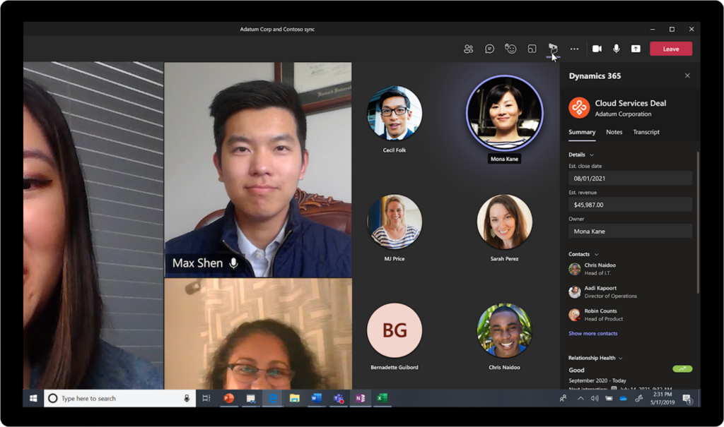 Add a Teams meeting to appointments and capture notes