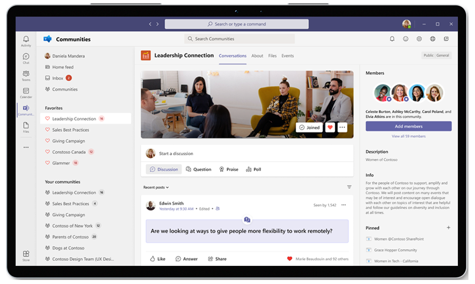 The updated Communities app for Microsoft Teams brings a fully Yammer experience into your hub