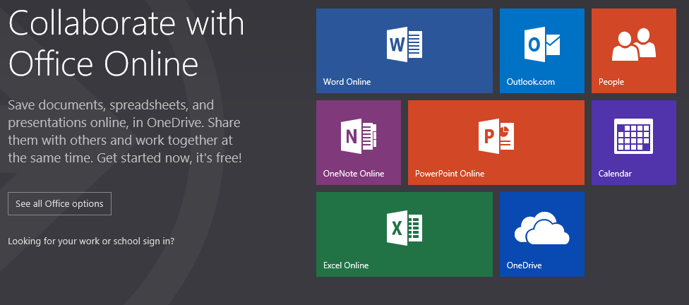 Collaborate with Office Online.