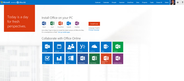 The New Office Homepage
