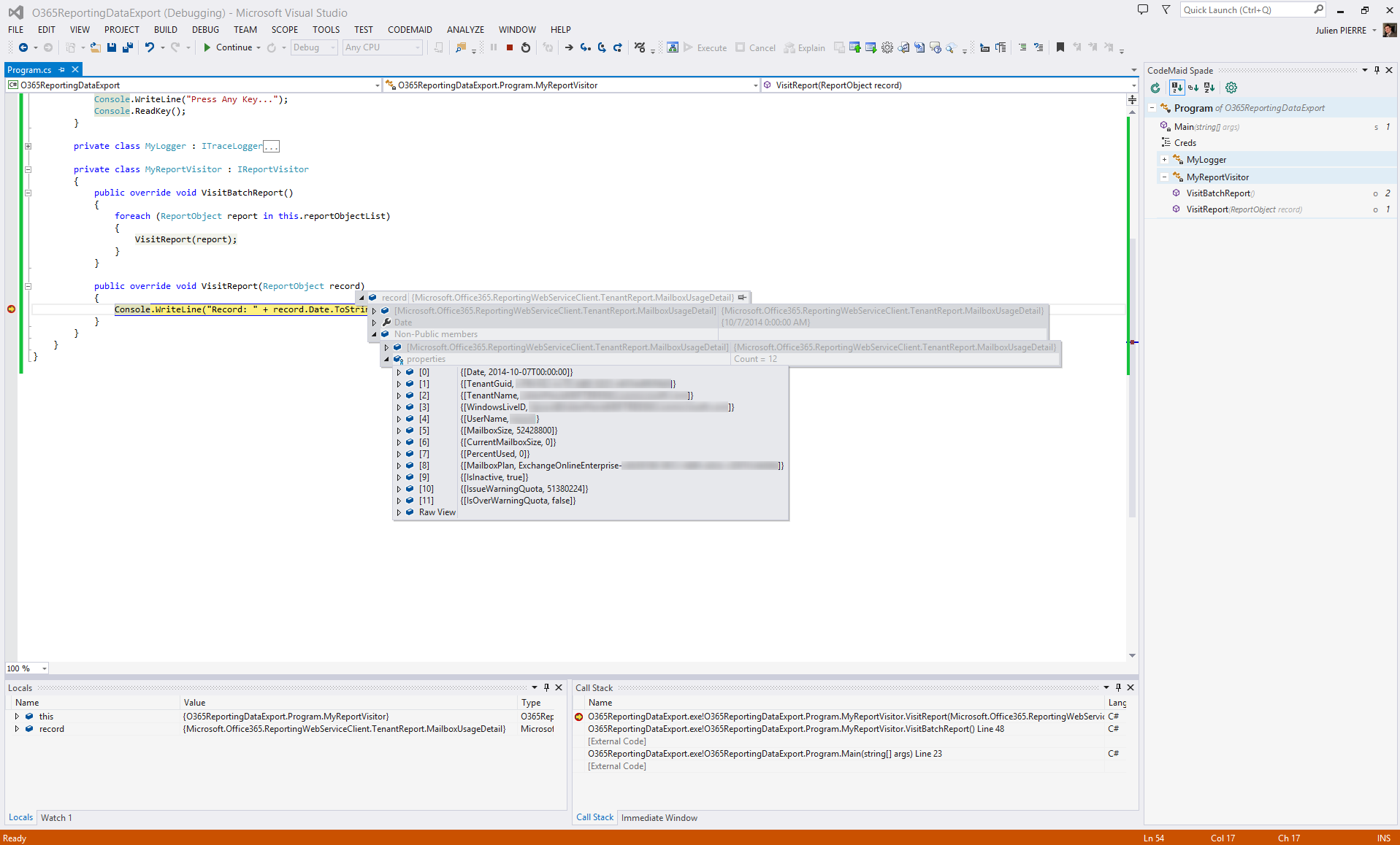 Client library for Office 365 3