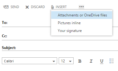 share files with Outlook Web App 1