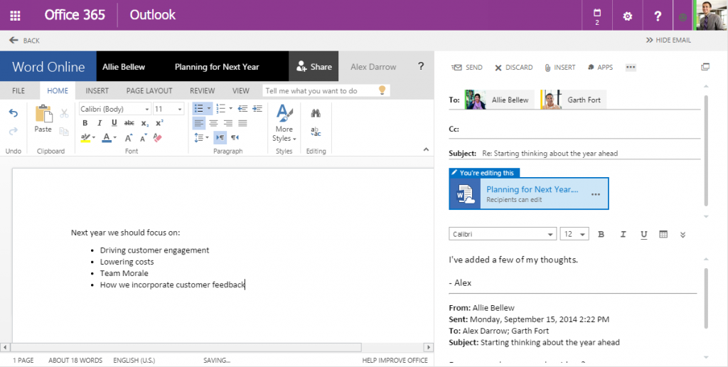 share files with Outlook Web App 12