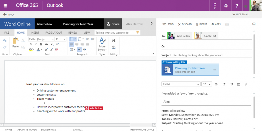 share files with Outlook Web App 13