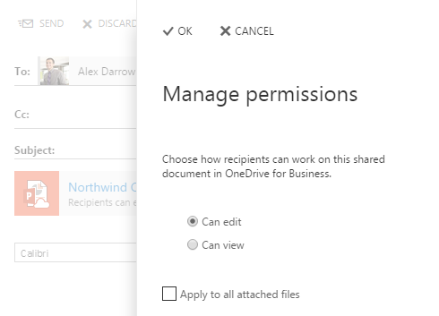 share files with Outlook Web App 6