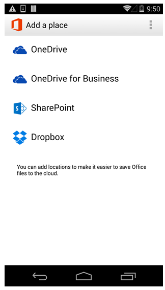 Office Mobile for Android Smartphones update 2