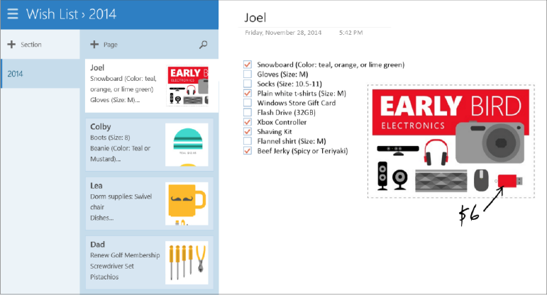 Take control of Black Friday and Cyber Monday with OneNote 1
