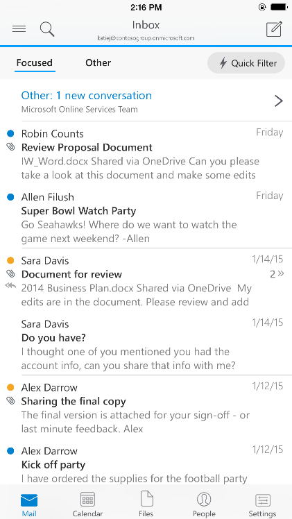 A deeper look at Outlook for iOS & Android 1