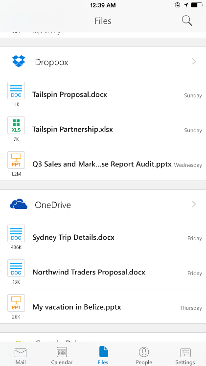 A deeper look at Outlook for iOS & Android 5