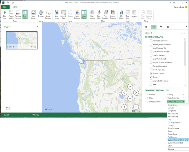 Power Map for Excel May update for Office 365 3