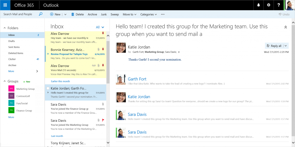 border - New features coming to Outlook on the web 2