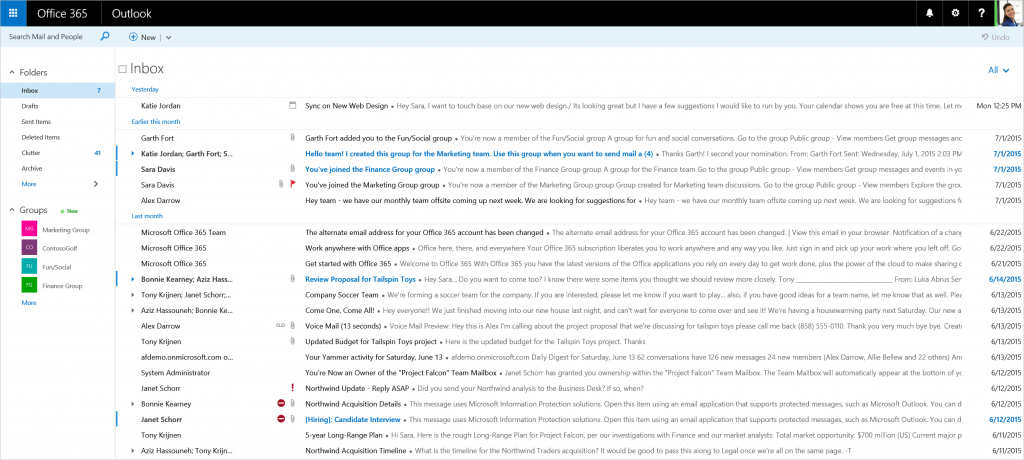border - New features coming to Outlook on the web 3