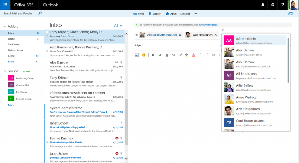 cropped - New features coming to Outlook on the web 5