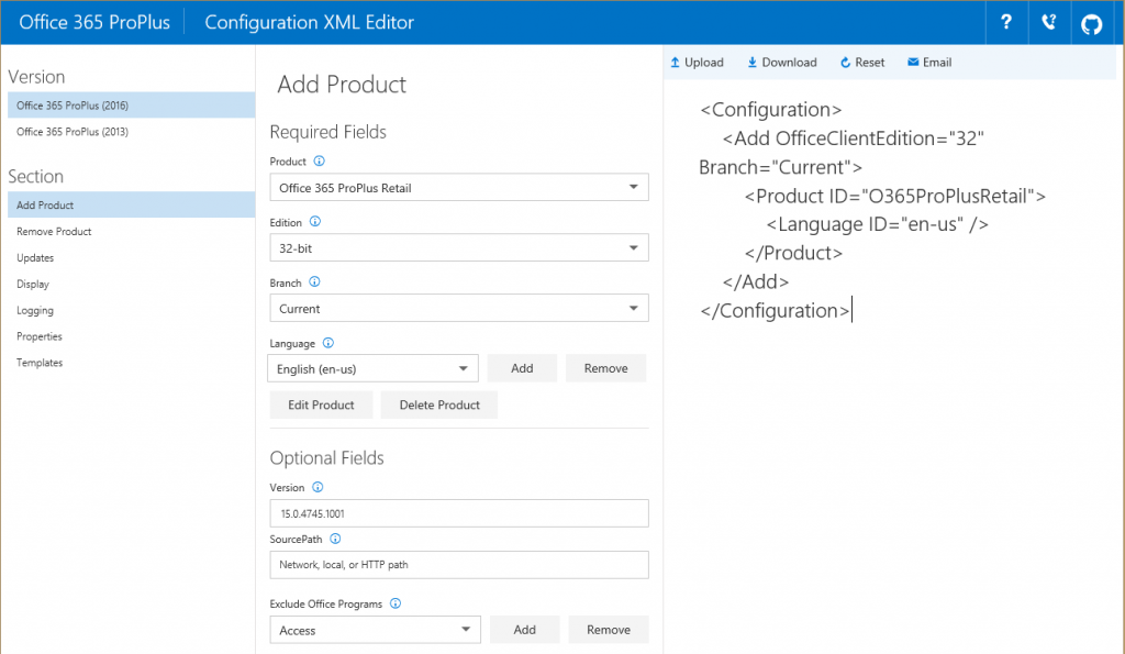 Deployment scripts for Office 2016 1