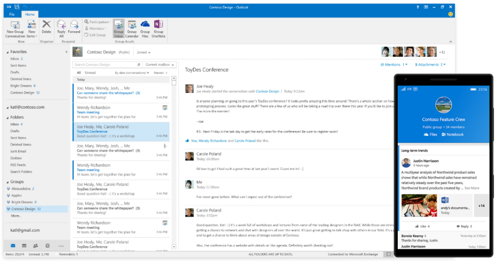 Introducing availability of Office 365 Groups in Outlook 2016