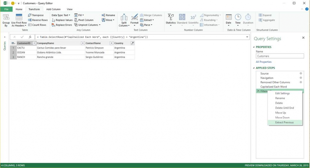 Power Query for Excel September 2015 update 3