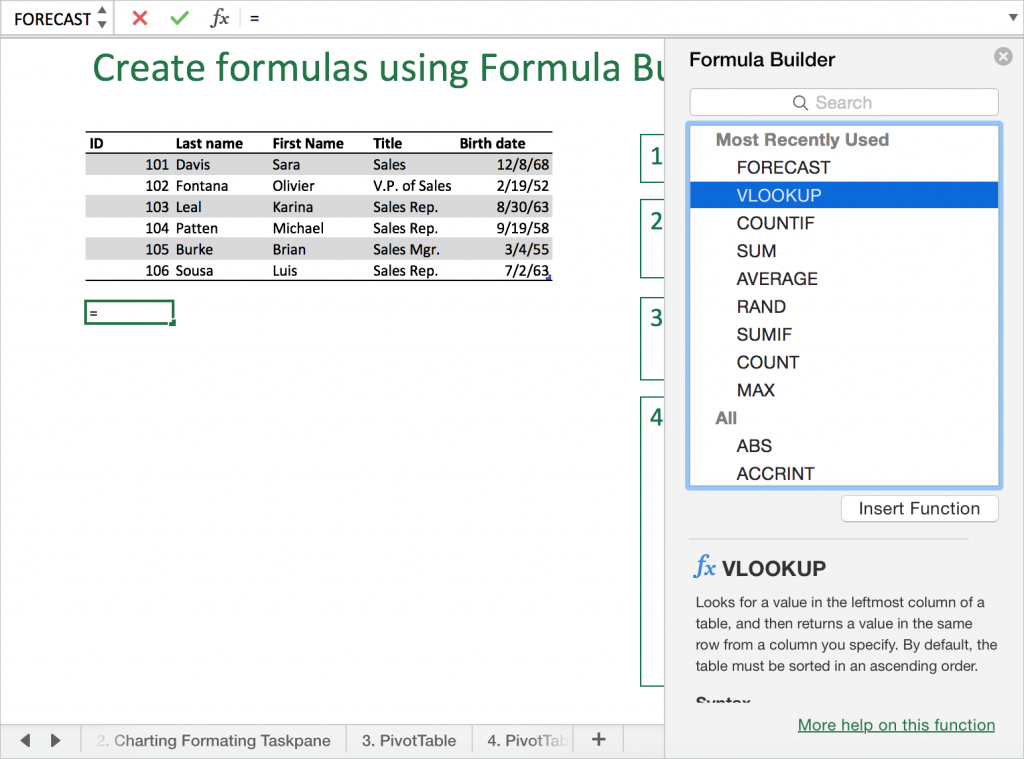 8 tips and tricks you should know for Excel 2016 for Mac 3 - 1