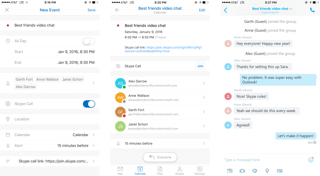 Skype and Outlook top features 1