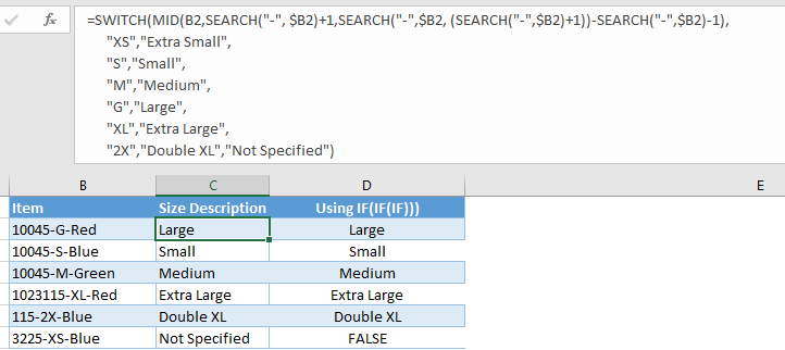 6 new Excel functions 4a