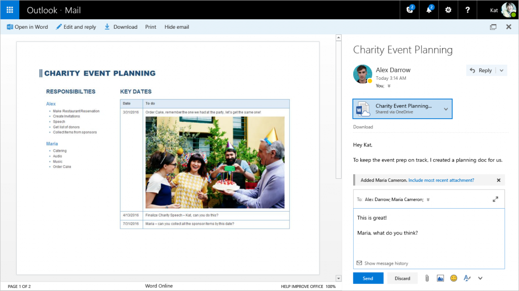 Outlook out of preview 1b