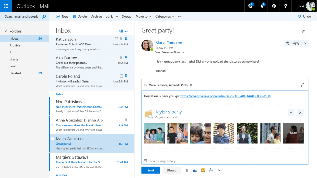 Outlook out of preview 5b