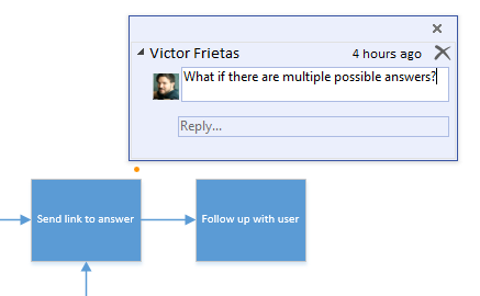 Commenting in Visio