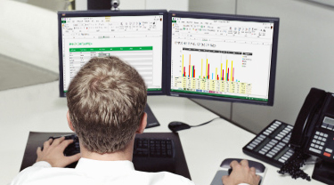 View Excel workbooks side by side.