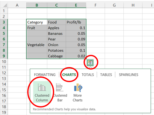 Filtering charts in excel microsoft 365 blog this gives us the following chart note for this example i added the chart title produce sales you can add your own title by clicking on the chart title ccuart Choice Image