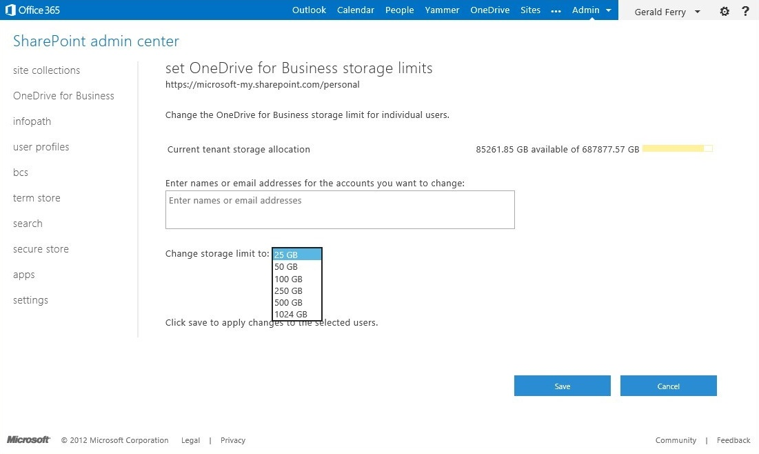 SharePoint Online announces 1TB site collections and unlimited ...