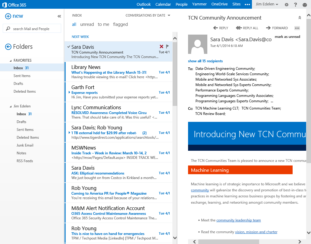 The evolution of email - Microsoft 365 Blog