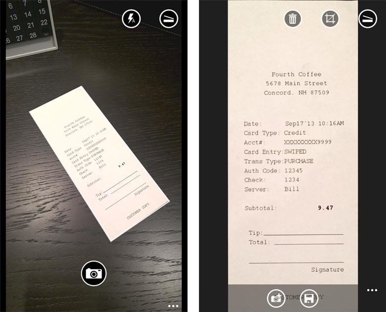 A OneNote scanner for your pocket