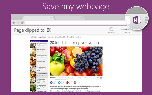 Introducing OneNote Clipper for Chrome and Springpad to