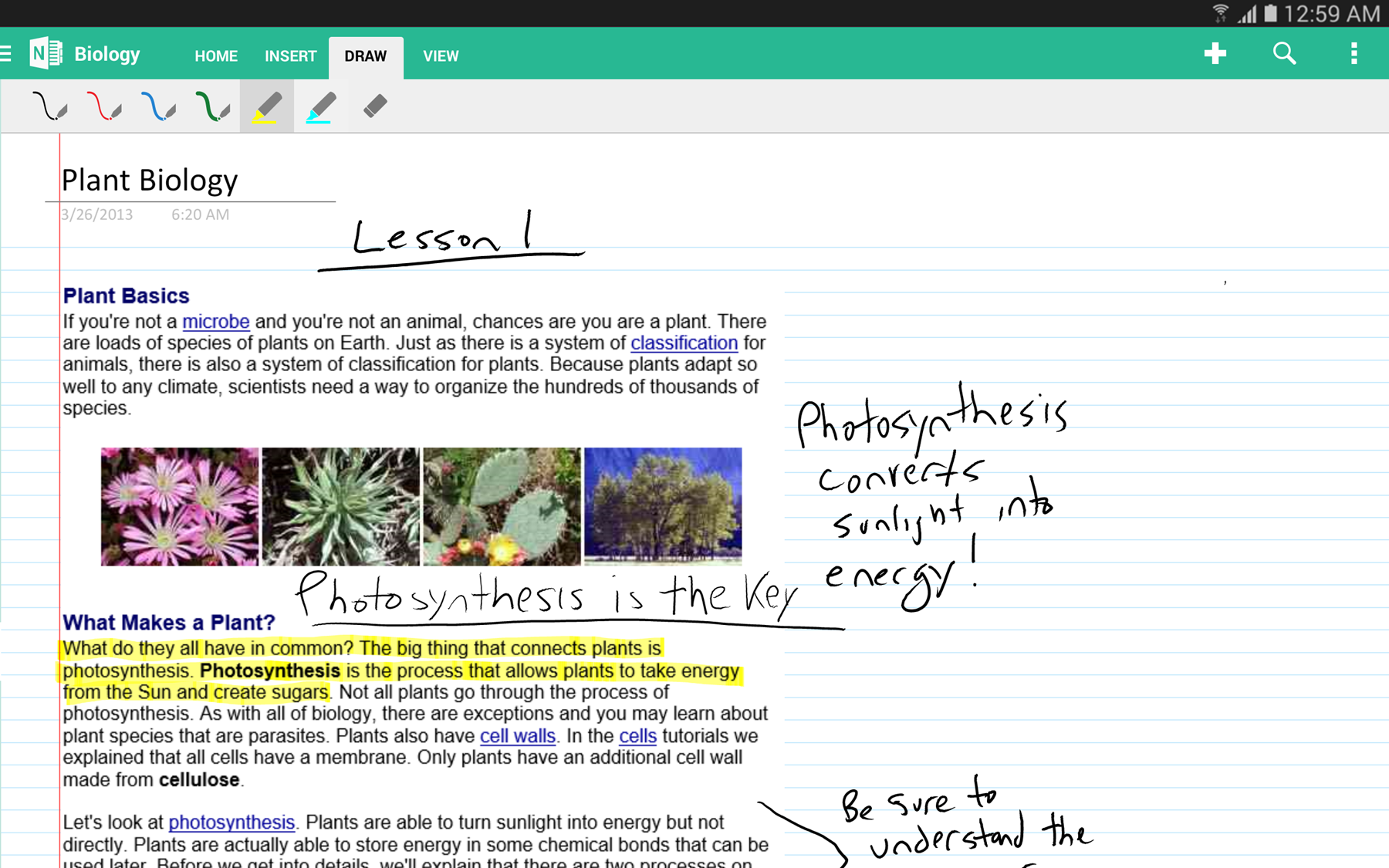 OneNote for Android: now with handwriting support, full tablet