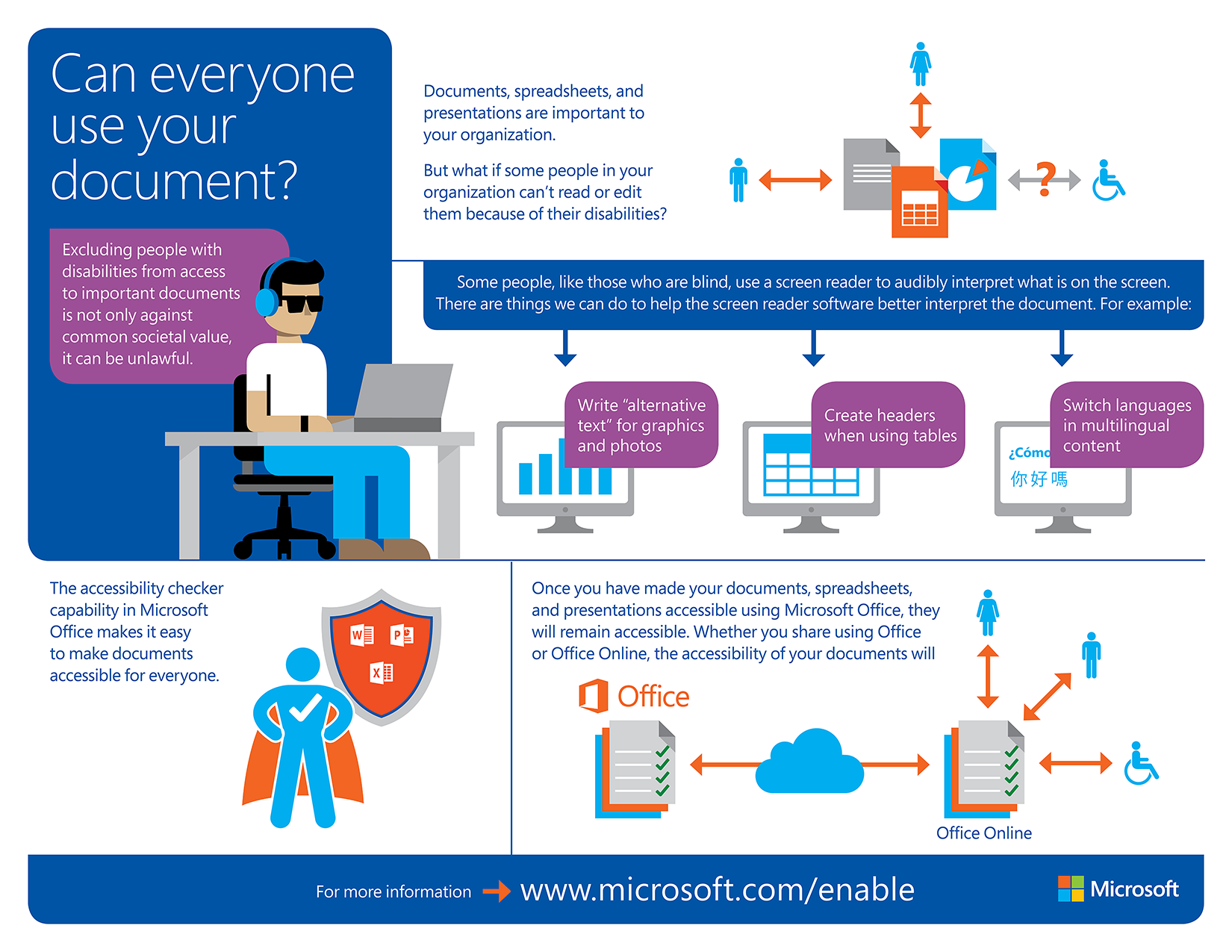 accessibility features in microsoft office help make documents accesible to all download the infographic