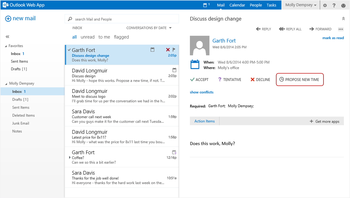 Propose New Timea New Feature For Outlook Web App In Office 365