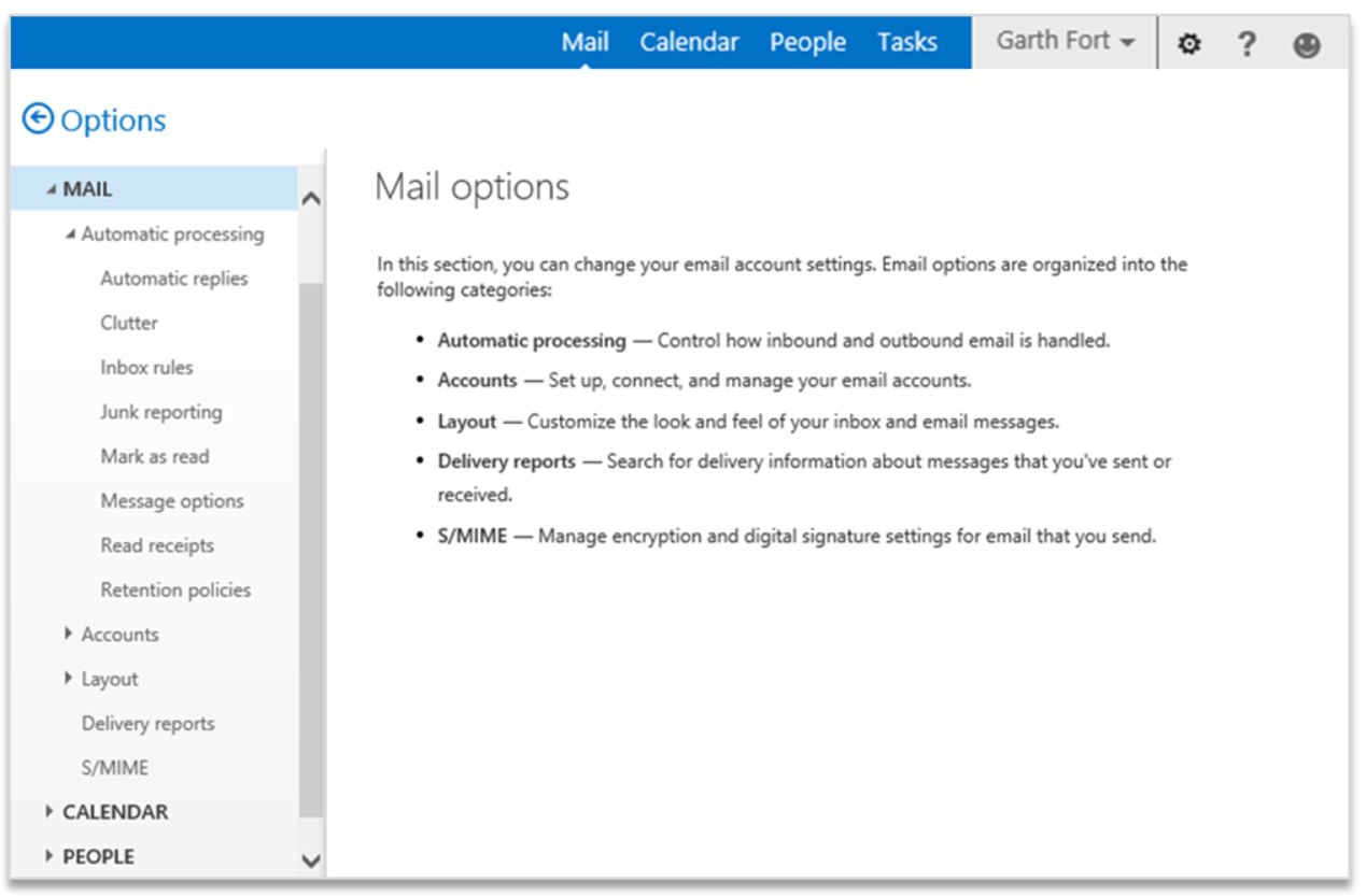 improving outlook web app options and settings microsoft 365 blog