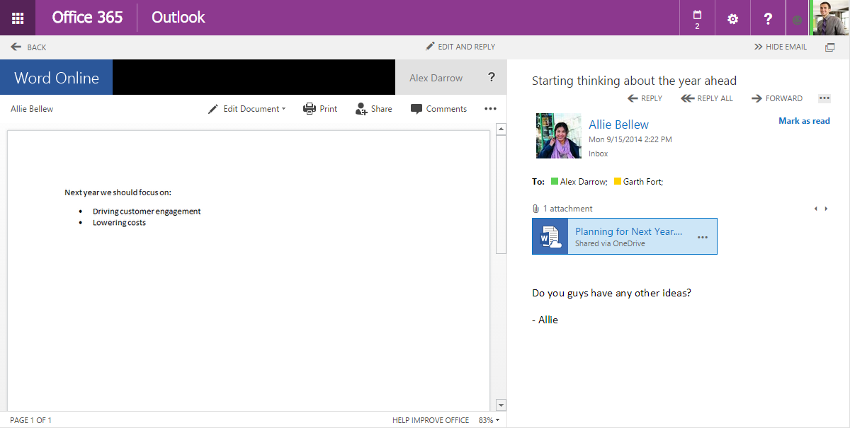 Introducing a new way to share files with Outlook Web App