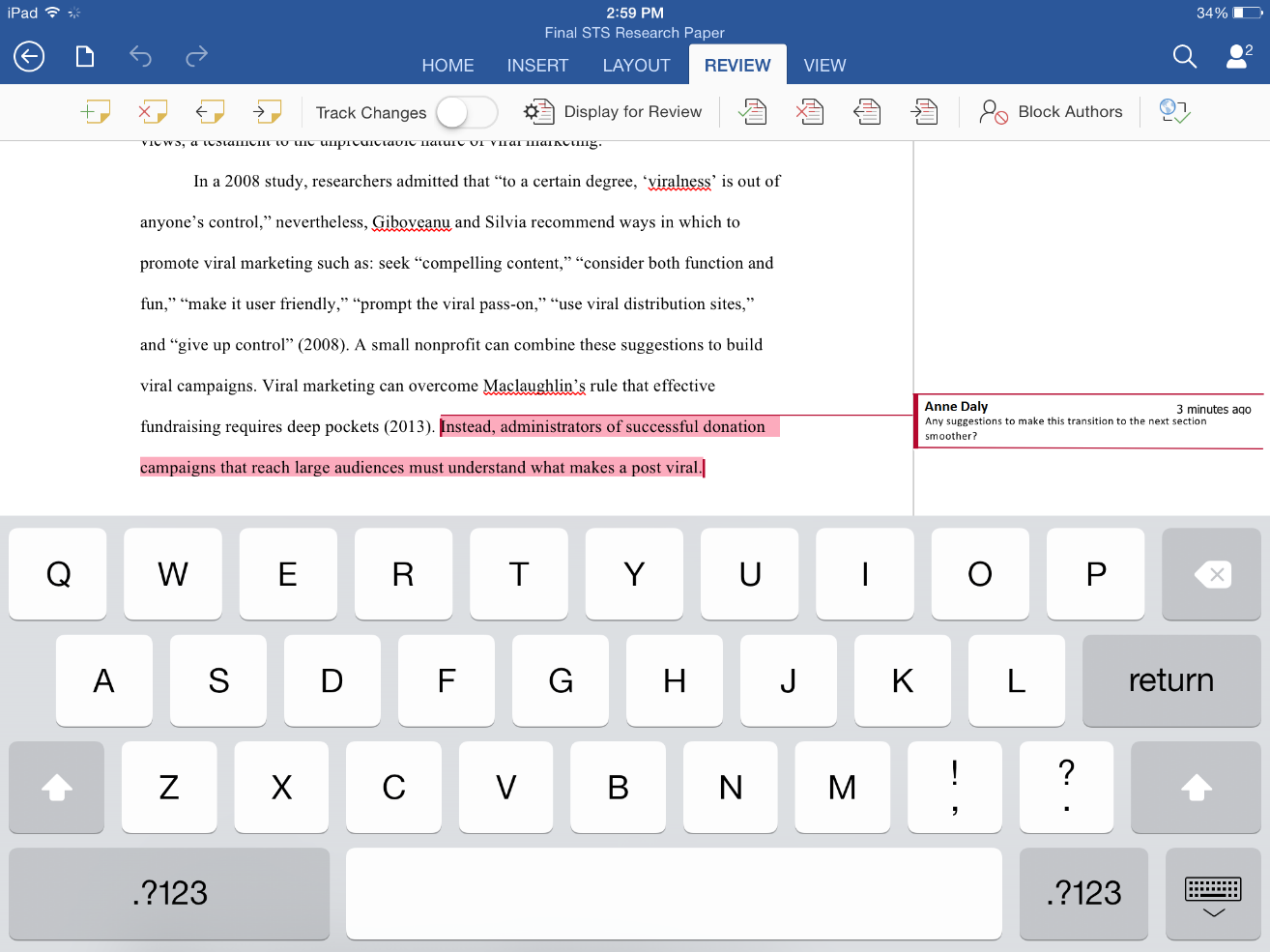 Tackle Your Next Group Project With Word For Ipad And Iphone