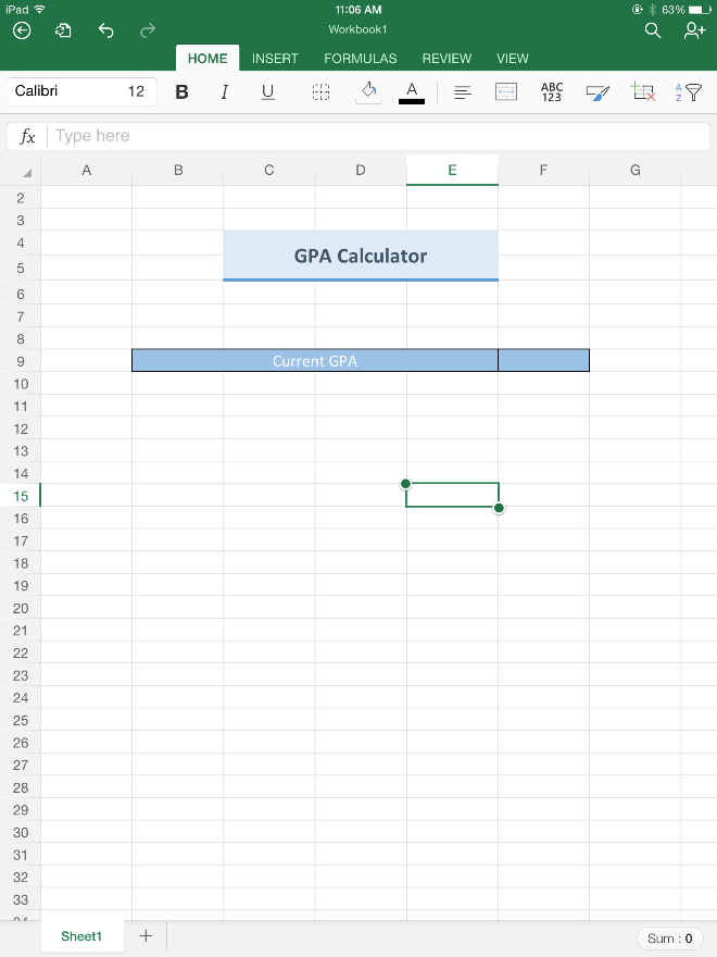 excel for ipad helps students stay on top of their gpa microsoft