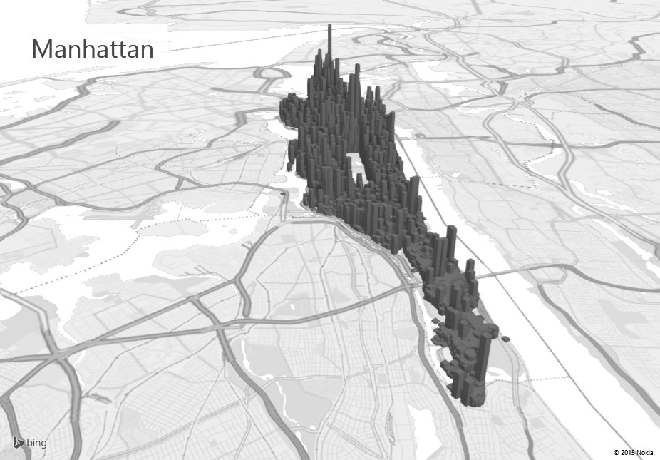 Exploring manhattan with power map for excel microsoft for Explore plan