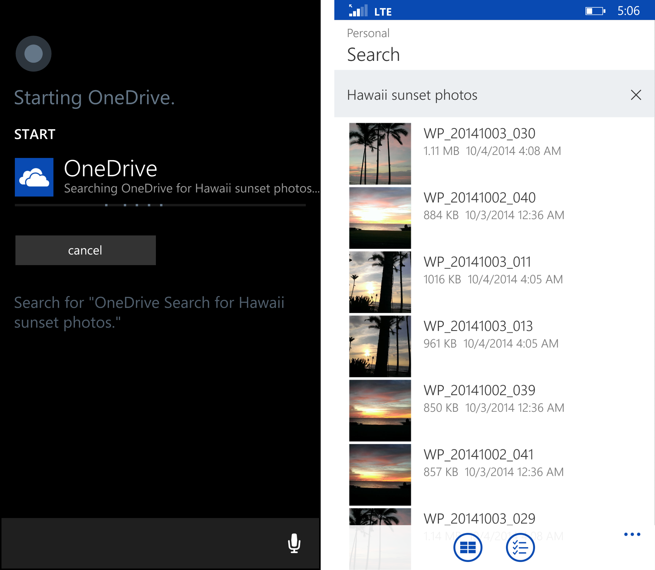 New updates to the OneDrive Android and Windows Phone apps