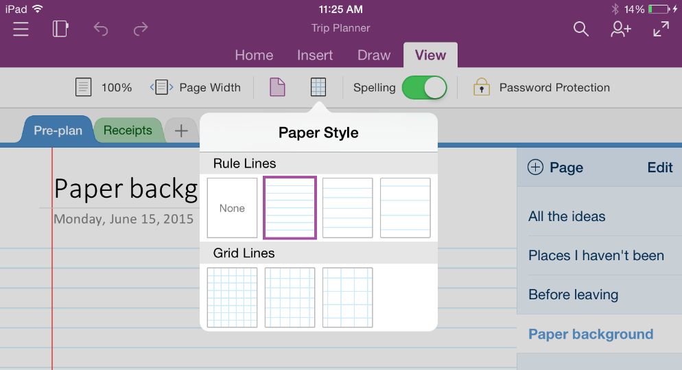 lists equations paper styles and sign up updates in onenote for