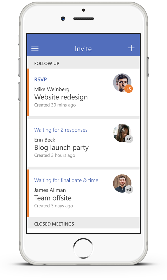 1 Microsoft Way Redmond143 305 70: Invite—the Easiest Way To Organize Meetings On The Go