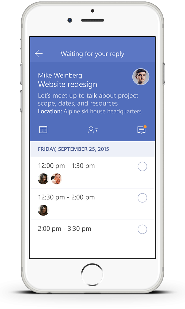 Invitethe easiest way to organize meetings on the go microsoft invite 2 stopboris Image collections