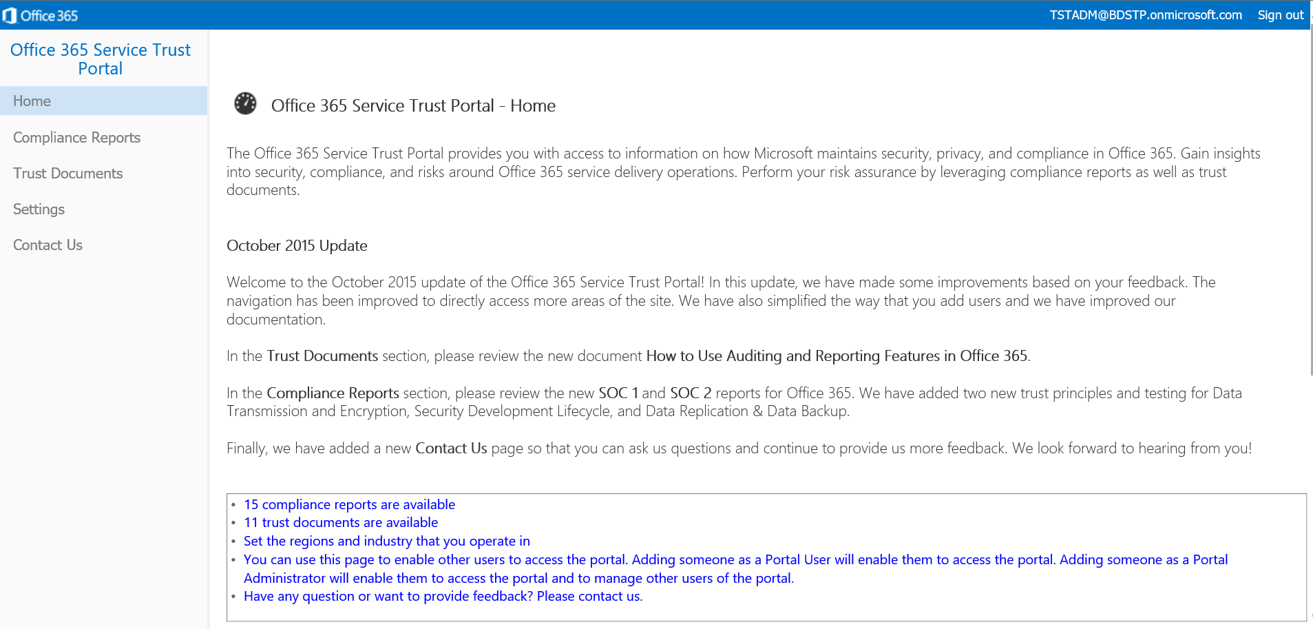 Announcing the Office 365 Service Trust Portal - Microsoft 365 Blog