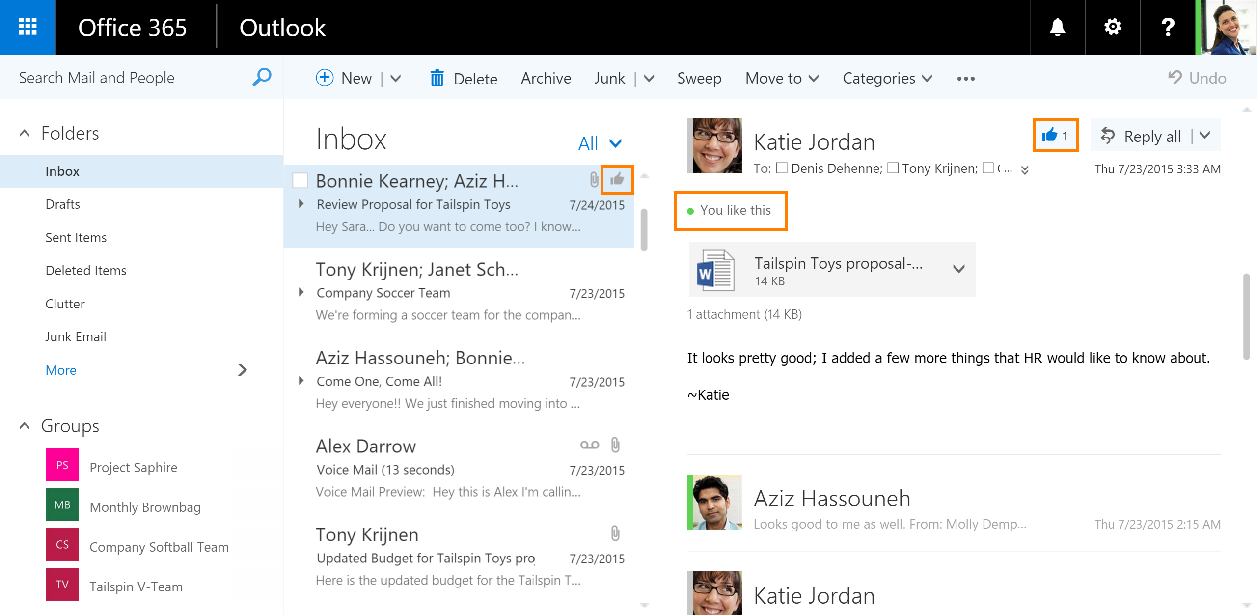 likes and mentions coming to outlook on the web microsoft 365 blog