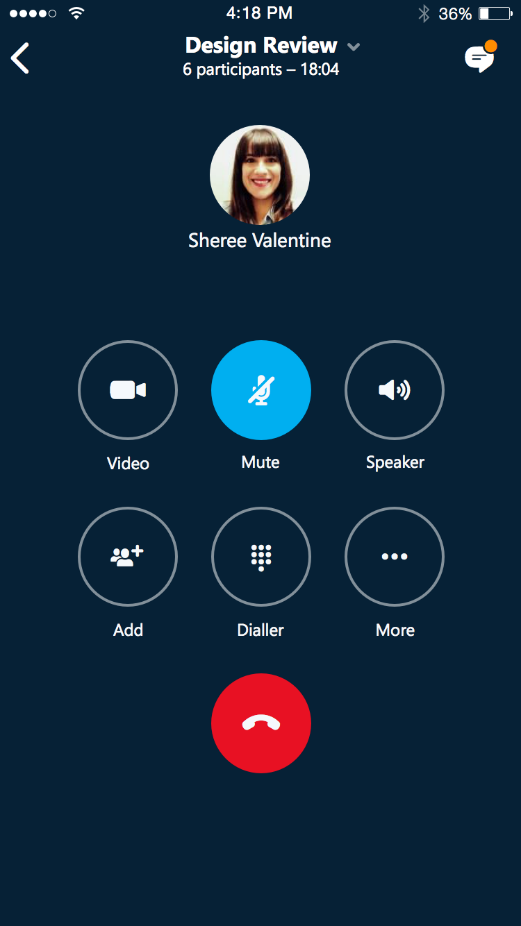 skype for business app iphone not working